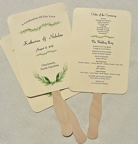 """Wooden Wavy Flat Stems for Any DIY Crafting Supplies Kit Wooden Green 8/"""" Fan Handles Pack 100 Jumbo Craft Popsicle Sticks for Auction Bid Paddles Paint Mixing Wedding Programs by Woodpeckers"""