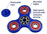 Spinner Fidget Toy Hybrid Ceramic Bearing Upgraded 2+ min Spinning for Kids & Adults by ZTOZZ (Blue + Red)