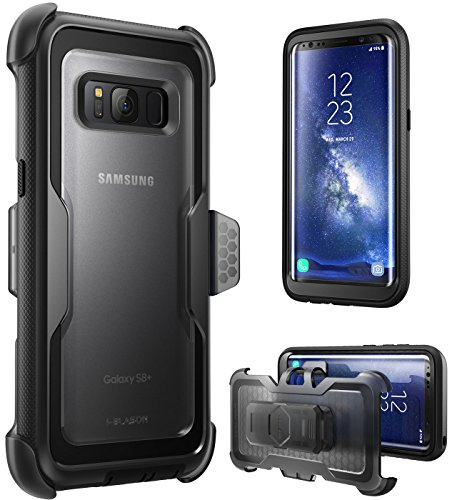 Price comparison product image i-Blason Galaxy S8+ Plus Case, [Armorbox] [Full body] [Heavy Duty Protection ] Shock Reduction / Bumper Case WITHOUT Screen Protector for Samsung Galaxy S8+ Plus 2017 Release (Black)