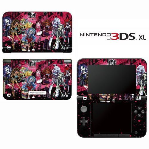 Monster High Ghoul Bloody Dolls Decorative Video Game Decal Cover Skin Protector for Nintendo 3DS XL]()