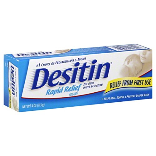 DESITIN Rapid Relief Zinc Oxide Diaper Rash Cream 4 oz ( Pack of 3)
