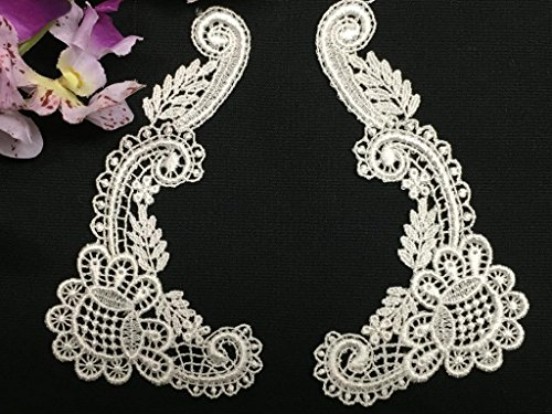 (4 Pairs, Peter Pan Square Collar Pair, Victorian Flower, White, 5.5