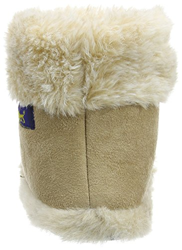 Brown Coolers Snugg Upper Boot New Microsuede Fluffy Ladies Textile Slippers Fur Collar Lined 7fxzw1xZq5