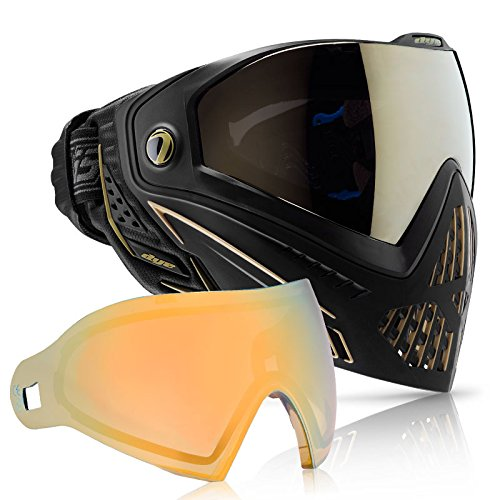 Dye i5 Paintball Goggle (Onyx/Gold with Faded Sunrise Thermal Lens Combo) by Dye