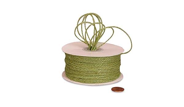 Moss Green Jute Twine 1.5mm X 100 Yards
