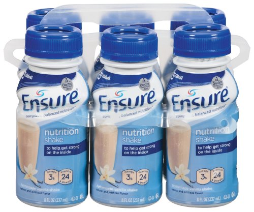 Ensure Regular Vanilla Liquid, 8 Ounce Bottle, 6 Count