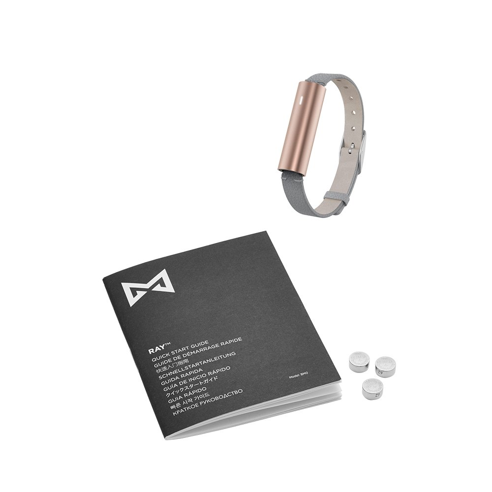 Misfit Ray - Fitness + Sleep Tracker with Gray Leather Band (Rose Gold) by Misfit Wearables (Image #5)