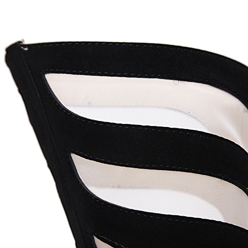 Cross Heel GZSL Damen Stiletto Open Drahtgeflecht Hochzeit Atmungsaktives High Hohl Schuhe Pumps 143 KJJDE Strap Klub Pumps Stiletto Toe Party 938 Plateau aq6axwIr