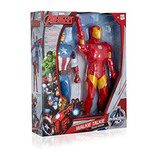 Avengers Assemble Walkie-Talkie Figures Iron Man & Captain America Toys Marvel Gadgets by IMC Toys (Image #1)