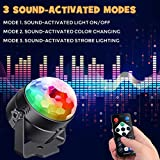 Sound Activated Party Lights with Remote Control Dj Liing, RBG Disco Ball, Strobe Lamp 7 Modes Stage Par Light for Home Room Dance Parties Birthday DJ Bar Karaoke Xmas Wedding