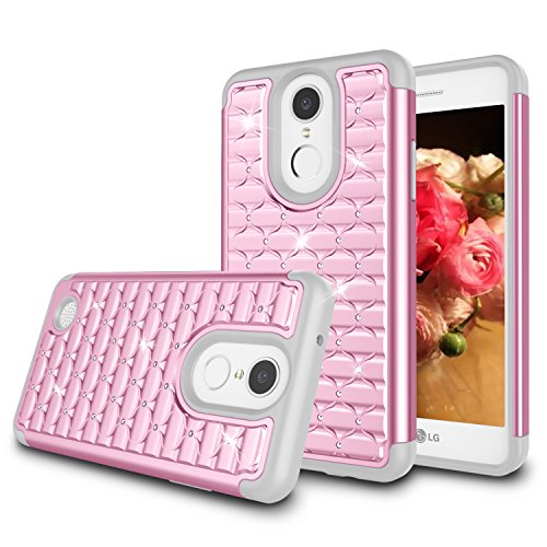 - LG Aristo Case, LG Risio 2 Case, LG Rebel 3 LTE Case, LG Rebel 2 LTE Case, LG Phoenix 3 Case, LG K8 2018 Case, Jeylly Bling Hybrid Shock Absorbing Hard PC+ Soft Silicone Impact Defender Case - Pink