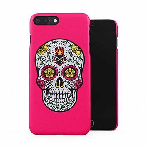 - Sugar Candy Mexican Skull Floral Ornaments Plastic Phone Snap On Back Case Cover Shell Compatible with iPhone 7 Plus & iPhone 8 Plus