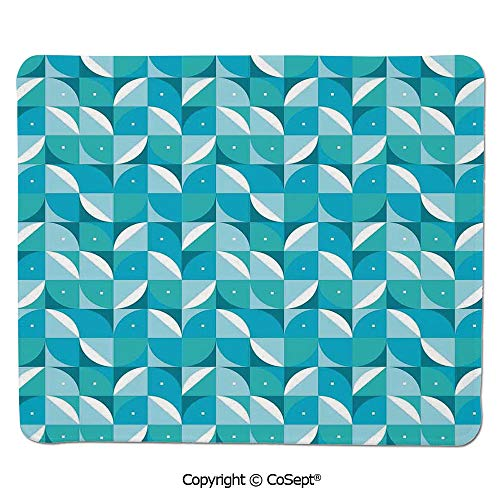 Ergonomic Mouse pad,Fractal Abstract Forms Background with Half Circles and Triangles Image,for Computer,Laptop,Home,Office & Travel(15.74
