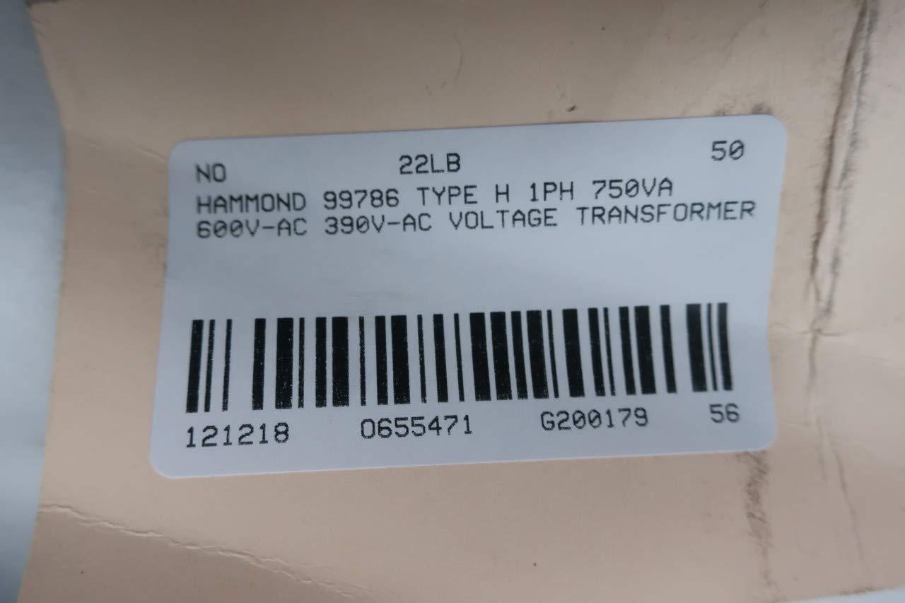 HAMMOND 99786 Type H Transformer 1PH 750VA 600V-AC 390V-AC D655471