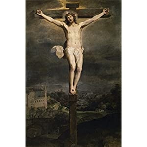 Oil Painting 'Barocci Federico Christ On The Cross 1604 ' Printing On Polyster Canvas , 30 X 46 Inch / 76 X 117 Cm ,the Best Bathroom Decor And Home Decoration And Gifts Is This Amazing Art Decorative Prints On Canvas