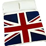 """Echolife 60"""" x 79"""" Thick Winter Velvet Plush Throw Blanket for Sofa Couch Car Great Christmas Gifts (UK Flag)"""