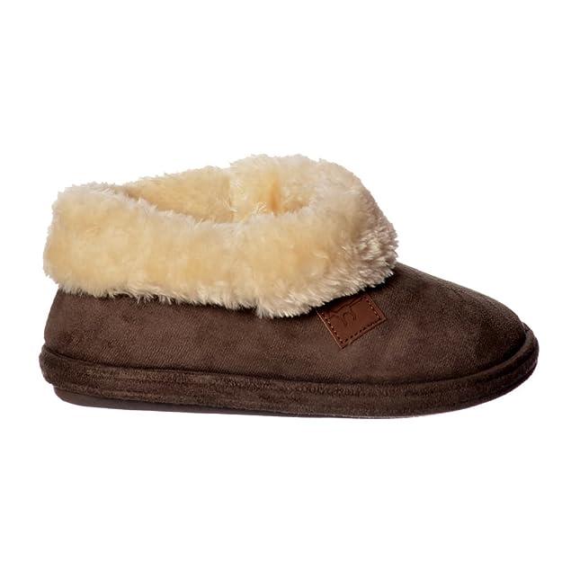 Jo & Joe Chiltern Fur Lined Fur Collar Slipper Boot - Cognac, Dark Brown UK8 - EU41 - US10 - AU9 Dark Brown