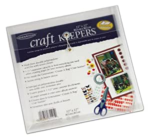 Generations Create-A-Bag Craft Keeper, 12 x 12 Inches, Clear, 5 Pack (85591GE)