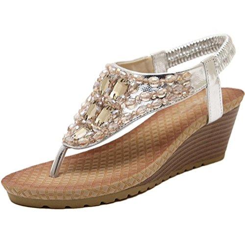 Pendiente con zapatos de punta abierta del clip del dedo del pie zapatos de las sandalias Silver
