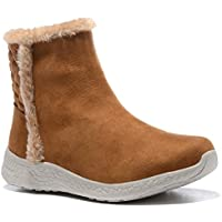 [Sponsored] WOBAOS Warm Snow Boots, Winter Warm Ankle Boots,Fur Lining Boots,Waterproof Thickening Winter Shoes For Women