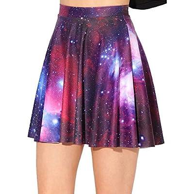 iecool Women's Flared Stretch Soft Pleated Mini Dress Skater Skirt