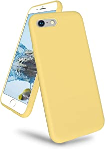 K TOMOTO Compatible with iPhone 6/6s Case 4.7 Inch, Liquid Silicone Gel Rubber Full Body Protection Cover with Microfiber Lining, Ultra Slim Protective Phone Case, Yellow