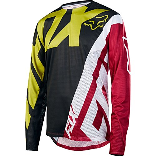Fox Racing Demo Long-Sleeve Bike Jersey - Men's Yellow/Black, M