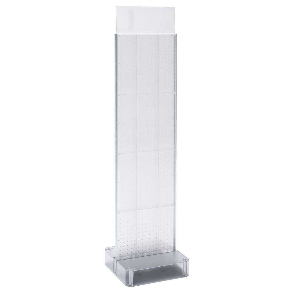 Retail Display 2-Sided Clear Acrylic Pegboard Display, 61''H
