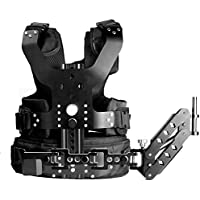 Neewer Adjustable Metal DSLR Camera Camcorder Shoulder Stabilizer Load Vest Rig with Single 16mm Handle Arm,Load Capacity 5-8kg/11-17lb,for Handheld Stabilizer,Photography,Video,Movie Making