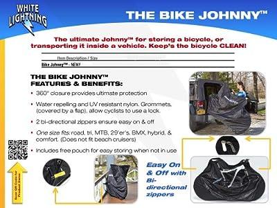 White Lightning Bike Johnny Bike Cover
