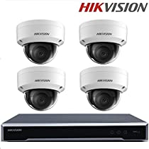 Hikvision Original English Indoor CCTV System NVR DS-7608NI-K2/8P 8CH 8POE 2SATA 4K NVR Play H.265 + 3MP H.265 IP Camera Dome CCTV Security Camera WDR POE + Seagate 2TB HDD (8 Channel + 4 Camera)