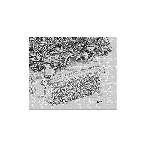Media Storehouse 252 Piece Puzzle of Rolls-Royce Eagle Cutaway Drawing (4861256)
