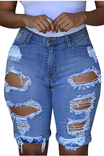 Short Trou Les Skinny Blue Dchir Le Jeans Vosujotis 8qvwRv