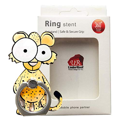 VEBE Cell Phone Finger Ring Holder Cute Animal Smartphone Stand 360 Swivel for iPhone, Ipad, Samsung HTC Nokia Smartphones, Tablet (Leopard)