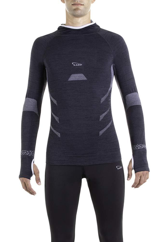 XAED Laufshirt Herren mit Kapuze Shirt