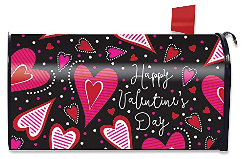 Briarwood Lane Dancing Hearts Valentine's Day Magnetic Mailbox Cover Standard