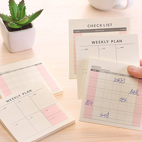 Cute Kawaii Weekly Monthly Work Planner Book Diary Agenda Dokibook for Kids School Supplies