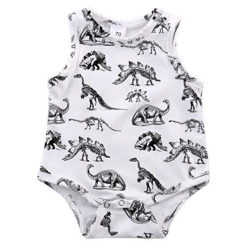 LUNIWEI Infant Kids Baby Boy Girl Dinosaur Print Jumpsuit Romper Outfits