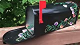 Hand painted mailbox floral design''Sweet pea''flowers, original artwork
