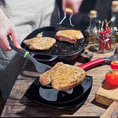 Kitchen Utensils Set, Novosun Silicone Cooking Utensil Set Include Steak Spatula Turner Spoon for Nonstick Cookware Non-Toxic Heat Resistant Silicone Kitchen Tools Sets Cooking Gadgets Gift (9 PCS)
