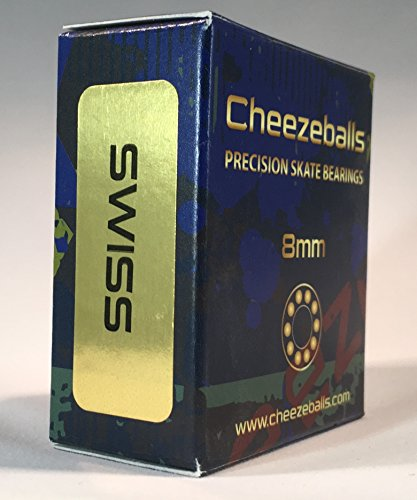 Cheezeballs Swiss Skate Bearings 8mm by Cheezeballs