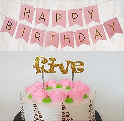Phenomenal Lovely Girl 5Th Birthday Decoration Kit Cake Topper Five Funny Birthday Cards Online Bapapcheapnameinfo