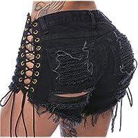 chongerfei de la mujer sexy cintura alta Casual Mini Hot Pants Cortar Denim Jeans–Pantalones cortos pantalones