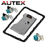 AUTEX A340E A340F Transmission Master Solenoid Shift TCC Lock Up with Filter Gasket Kit Set for 1987-Up Jeep Cherokee Wagoneer