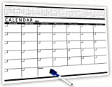 Dry Erase Lifetree Self-Stick Wall Calendar Board, Monthly Planning Calendar, 1 Blue Markers with Eraser (White . 22 x 17.32 inches)
