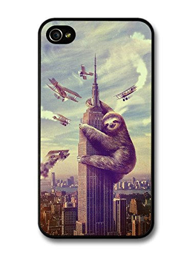 Gory King Kong Parody Funny Sloth Funny Cool Style Design case for iPhone 4 4S