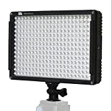 PIXEL 308 LED On-Camera Video Lights Dimmable Ultra High Power Panel Digital Camera/Camcorder Video Light, LED Light for Canon, Nikon, Pentax, Panasonic,SONY, Samsung and Olympus Digital SLR Cameras