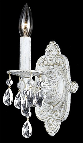 - Crystorama Paris Market 5021 Wall Sconce, Clear Handcut Crystal, White