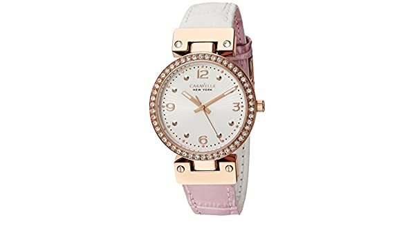 Amazon.com: Caravelle New York Womens 44L232 Swarovski Crystal Two Tone Watch: Watches