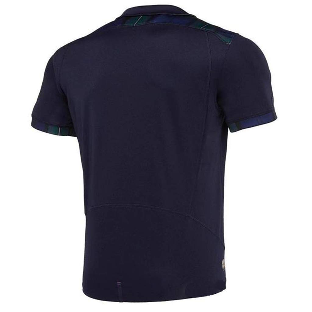 World Cup Scotland Rugby Jersey Fans Supporter T-Shirt Men Training Replace Quick Dry Short Sleeve Sportwear for Sport Fitness
